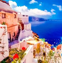 beautiful views of Santorini